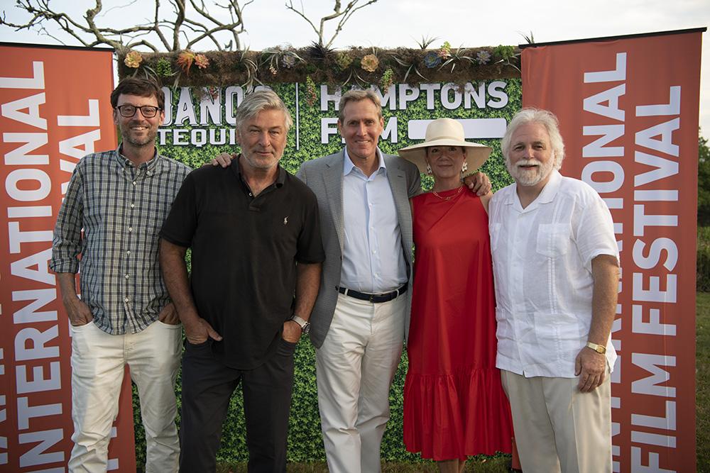 1000 David Nugent, Alec Baldwin, Scott Seltzer, Anne Chaisson, and Randy Mastro attend the HamptonsFilm SummerDocs Series Screening of The Lost Leonardo, image courtesy of Chloe Grifkins