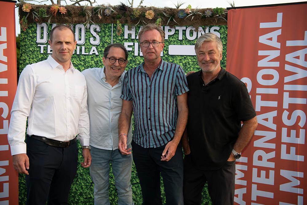 1000 Evan Beard, Michael Barker, Cristoph Jörg attend the HamptonsFilm SummerDocs Series Screening of The Lost Leonardo, image courtesy of Chloe Grifkins